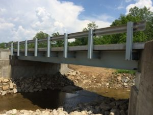 Muskingum County Ohio Steel Bridge Using Recycled Material