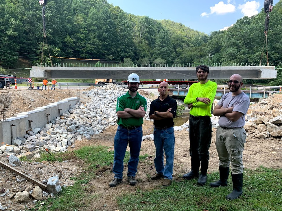 Press Brake Tub Girder Bridge - Fourteen Mile Bridge in Lincoln County, West Virginia